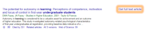 Google Scholar's Get full text article link